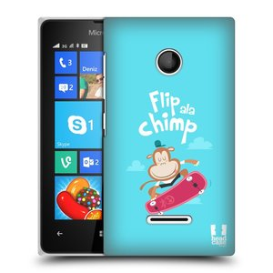 Plastové pouzdro na mobil Microsoft Lumia 435 HEAD CASE SPORTOVEC OPIČÁK