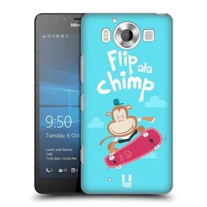 Plastové pouzdro na mobil Microsoft Lumia 950 HEAD CASE SPORTOVEC OPIČÁK