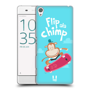 Plastové pouzdro na mobil Sony Xperia XA HEAD CASE SPORTOVEC OPIČÁK