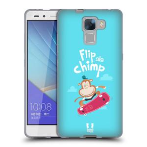 Silikonové pouzdro na mobil Honor 7 HEAD CASE SPORTOVEC OPIČÁK