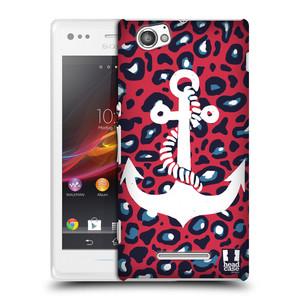 Plastové pouzdro na mobil Sony Xperia M C1905 HEAD CASE KOTVA LEOPARDÍ