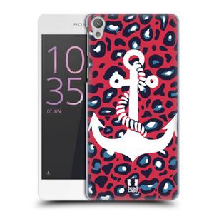 Plastové pouzdro na mobil Sony Xperia E5 HEAD CASE KOTVA LEOPARDÍ