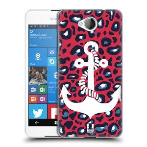 Plastové pouzdro na mobil Microsoft Lumia 650 HEAD CASE KOTVA LEOPARDÍ