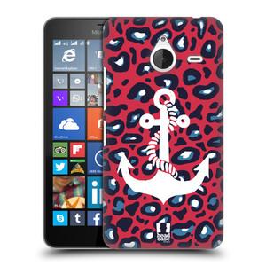 Plastové pouzdro na mobil Microsoft Lumia 640 XL HEAD CASE KOTVA LEOPARDÍ