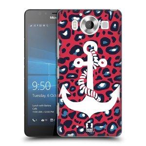 Plastové pouzdro na mobil Microsoft Lumia 950 HEAD CASE KOTVA LEOPARDÍ
