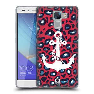 Silikonové pouzdro na mobil Honor 7 HEAD CASE KOTVA LEOPARDÍ