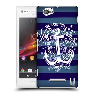Plastové pouzdro na mobil Sony Xperia M C1905 HEAD CASE KOTVA HOPE