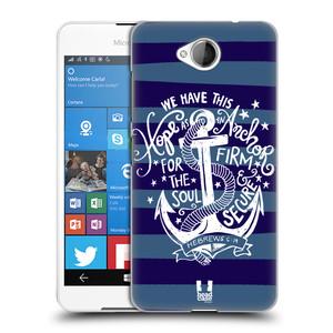 Plastové pouzdro na mobil Microsoft Lumia 650 HEAD CASE KOTVA HOPE