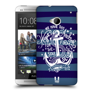 Plastové pouzdro na mobil HTC ONE M7 HEAD CASE KOTVA HOPE