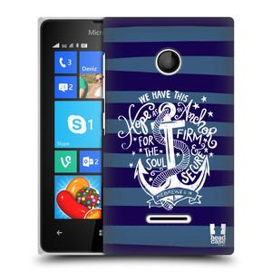 Plastové pouzdro na mobil Microsoft Lumia 435 HEAD CASE KOTVA HOPE