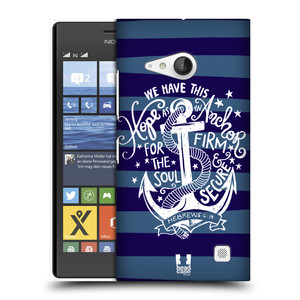Plastové pouzdro na mobil Nokia Lumia 735 HEAD CASE KOTVA HOPE