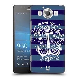 Plastové pouzdro na mobil Microsoft Lumia 950 HEAD CASE KOTVA HOPE