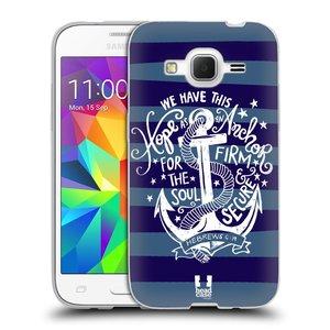 Silikonové pouzdro na mobil Samsung Galaxy Core Prime LTE HEAD CASE KOTVA HOPE