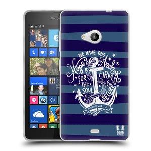 Silikonové pouzdro na mobil Microsoft Lumia 535 HEAD CASE KOTVA HOPE