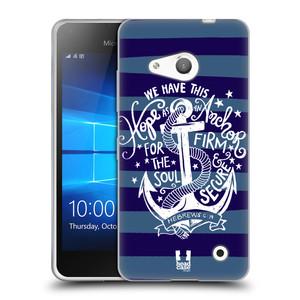 Silikonové pouzdro na mobil Microsoft Lumia 550 HEAD CASE KOTVA HOPE