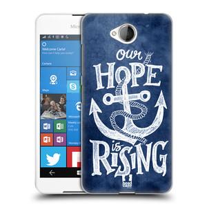 Plastové pouzdro na mobil Microsoft Lumia 650 HEAD CASE KOTVA RISING
