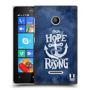 Plastové pouzdro na mobil Microsoft Lumia 435 HEAD CASE KOTVA RISING