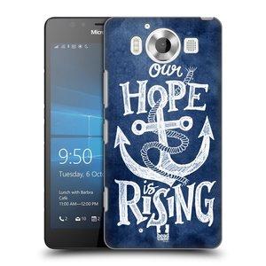 Plastové pouzdro na mobil Microsoft Lumia 950 HEAD CASE KOTVA RISING