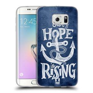 Silikonové pouzdro na mobil Samsung Galaxy S6 Edge HEAD CASE KOTVA RISING