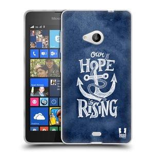 Silikonové pouzdro na mobil Microsoft Lumia 535 HEAD CASE KOTVA RISING