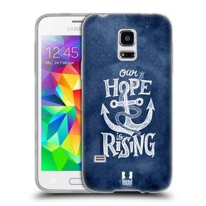 Silikonové pouzdro na mobil Samsung Galaxy S5 Mini HEAD CASE KOTVA RISING