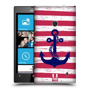Plastové pouzdro na mobil Nokia Lumia 520 HEAD CASE KOTVA S PRUHY