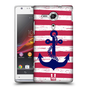 Plastové pouzdro na mobil Sony Xperia SP C5303 HEAD CASE KOTVA S PRUHY