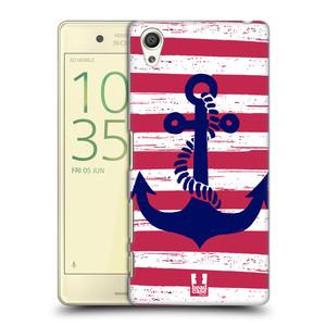 Plastové pouzdro na mobil Sony Xperia X HEAD CASE KOTVA S PRUHY