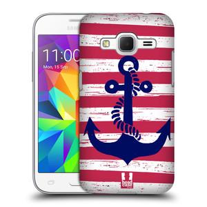 Plastové pouzdro na mobil Samsung Galaxy Core Prime LTE HEAD CASE KOTVA S PRUHY