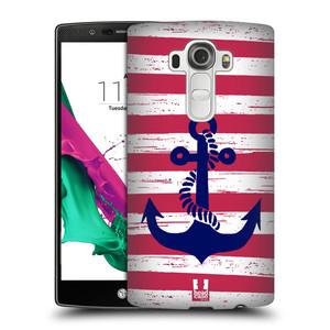 Plastové pouzdro na mobil LG G4 HEAD CASE KOTVA S PRUHY