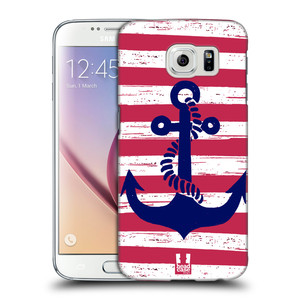 Plastové pouzdro na mobil Samsung Galaxy S6 HEAD CASE KOTVA S PRUHY