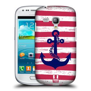 Plastové pouzdro na mobil Samsung Galaxy S III Mini HEAD CASE KOTVA S PRUHY