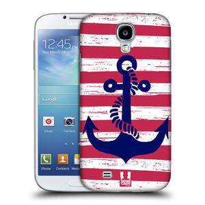Plastové pouzdro na mobil Samsung Galaxy S4 HEAD CASE KOTVA S PRUHY