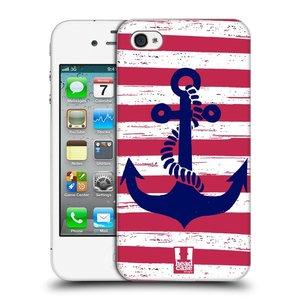 Plastové pouzdro na mobil Apple iPhone 4 a 4S HEAD CASE KOTVA S PRUHY