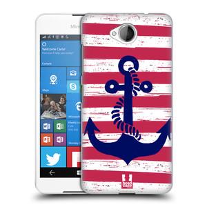 Plastové pouzdro na mobil Microsoft Lumia 650 HEAD CASE KOTVA S PRUHY