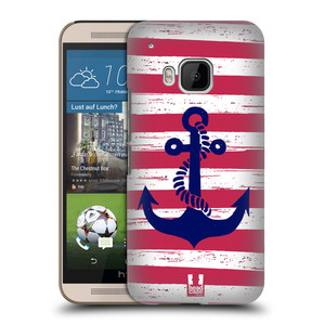Plastové pouzdro na mobil HTC ONE M9 HEAD CASE KOTVA S PRUHY