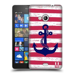 Plastové pouzdro na mobil Microsoft Lumia 535 HEAD CASE KOTVA S PRUHY