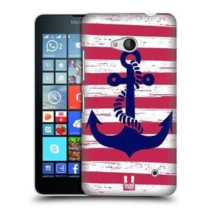 Plastové pouzdro na mobil Microsoft Lumia 640 HEAD CASE KOTVA S PRUHY