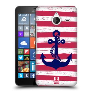 Plastové pouzdro na mobil Microsoft Lumia 640 XL HEAD CASE KOTVA S PRUHY