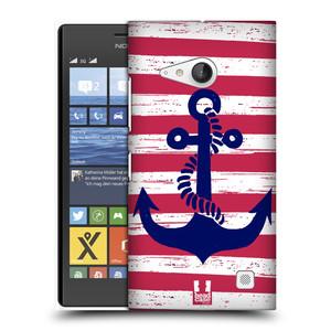 Plastové pouzdro na mobil Nokia Lumia 735 HEAD CASE KOTVA S PRUHY