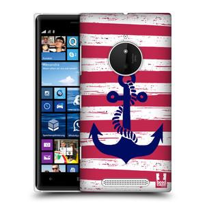 Plastové pouzdro na mobil Nokia Lumia 830 HEAD CASE KOTVA S PRUHY