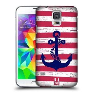 Plastové pouzdro na mobil Samsung Galaxy S5 Neo HEAD CASE KOTVA S PRUHY