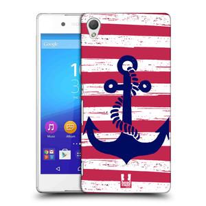 Plastové pouzdro na mobil Sony Xperia Z3+ (Plus) HEAD CASE KOTVA S PRUHY