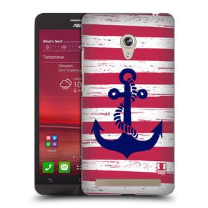 Plastové pouzdro na mobil Asus Zenfone 6 HEAD CASE KOTVA S PRUHY