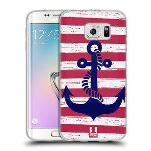 Silikonové pouzdro na mobil Samsung Galaxy S6 Edge HEAD CASE KOTVA S PRUHY