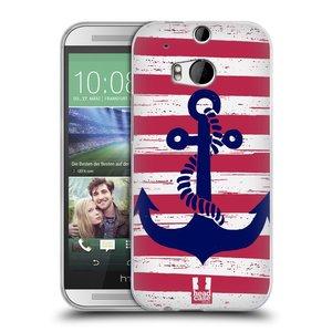 Silikonové pouzdro na mobil HTC ONE M8 HEAD CASE KOTVA S PRUHY