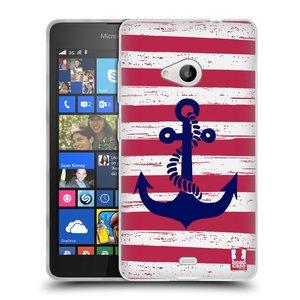 Silikonové pouzdro na mobil Microsoft Lumia 535 HEAD CASE KOTVA S PRUHY