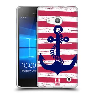 Silikonové pouzdro na mobil Microsoft Lumia 550 HEAD CASE KOTVA S PRUHY