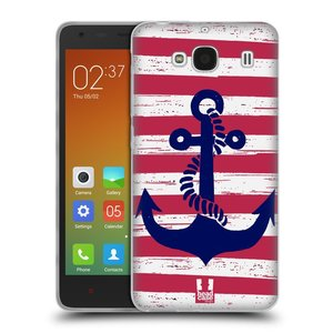 Silikonové pouzdro na mobil Xiaomi Redmi 2 HEAD CASE KOTVA S PRUHY