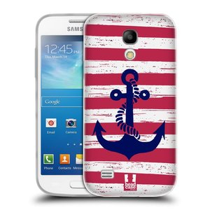Silikonové pouzdro na mobil Samsung Galaxy S4 Mini HEAD CASE KOTVA S PRUHY